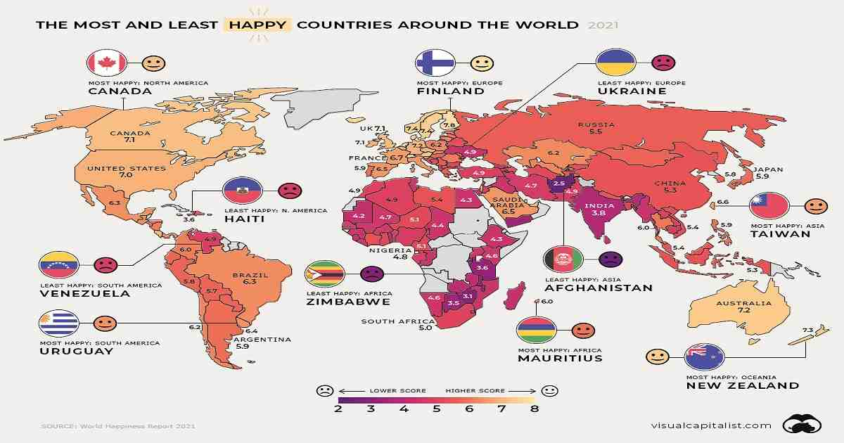 Global Happiness Mapping UN